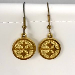 Vintage 1997 Pittsburgh Steelers Dangle Earrings